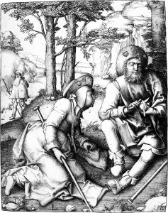 Lucas van Leyden, Resting Pilgrims, c. early 1500s.  These pilgrims needed food energy during their travels, but what about water?