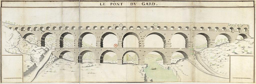 Dessin_du_pont_du_Gard