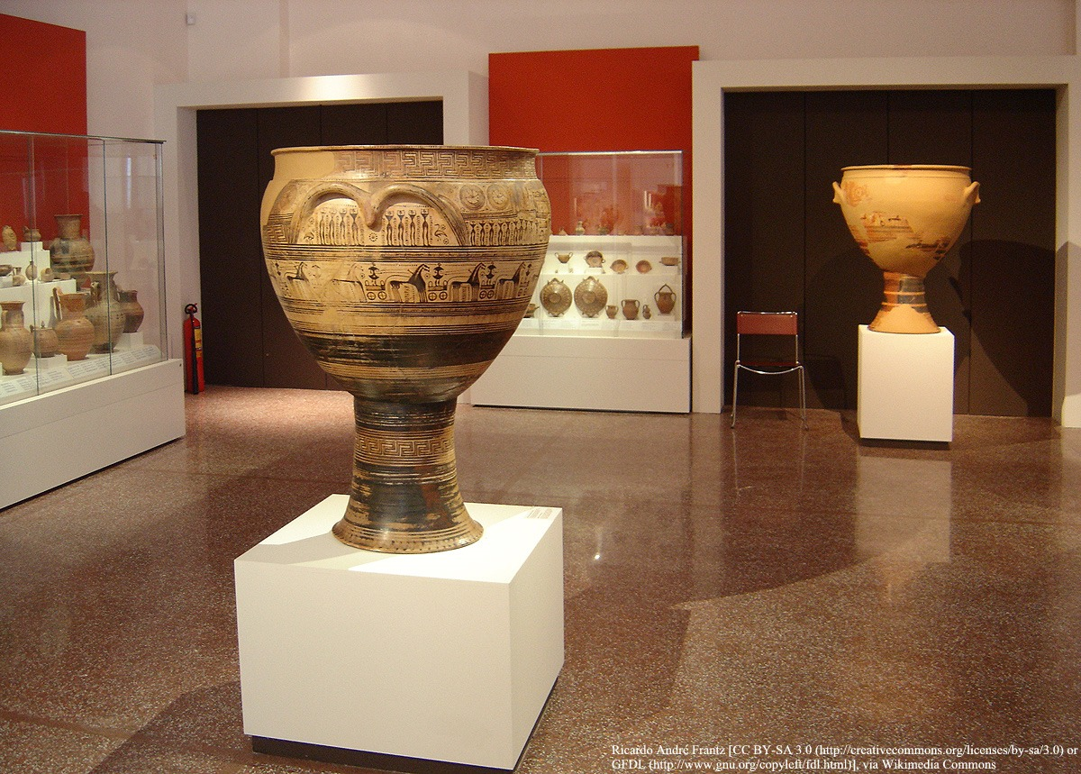Comparing Neolithic Mesopotamian and Greek Geometric pottery