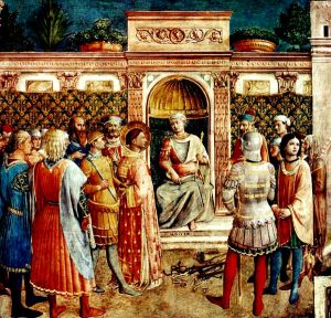 The trial of St. Justin Martyr.