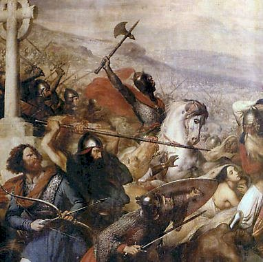 Would the Battle of Poitiers have never taken place if Constantine stayed in Rome?